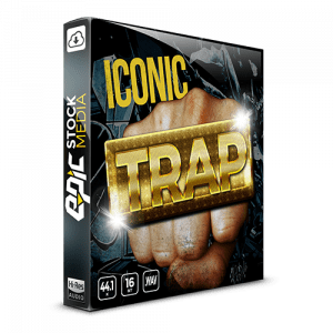 Iconic Trap - drum sample library hard-hitting bass and analog drum machine sounds