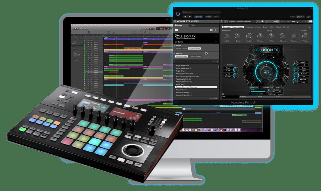 Maschine Studio Collision FX komplete kontrol kontakt native instruments sound yeti