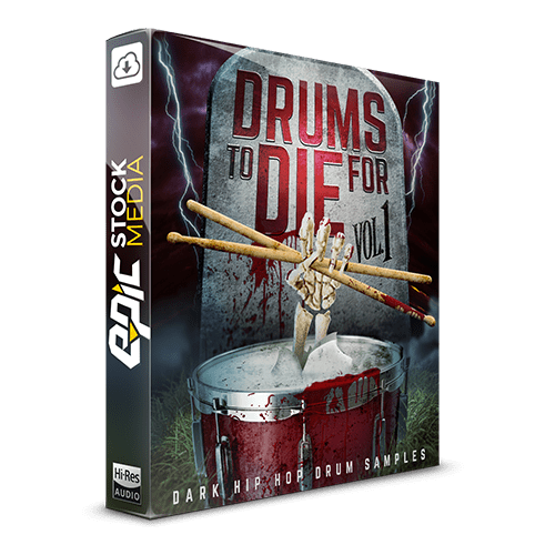 Drums to Die For Box V1 Dark Hip Hop Drum Samples
